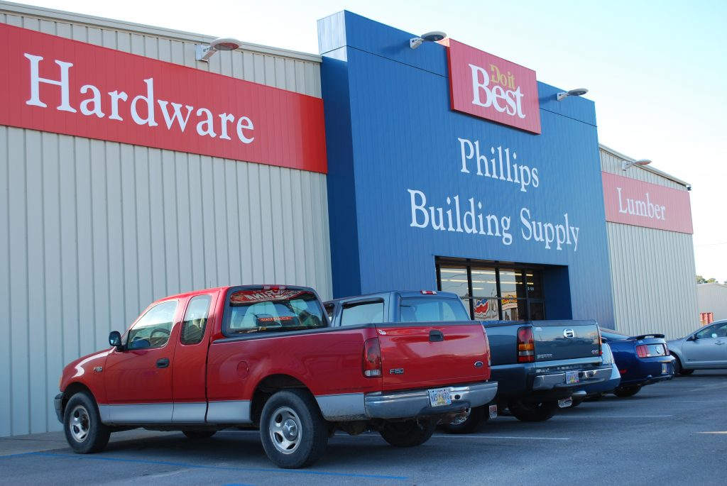 Phillips Building Supply Storefront