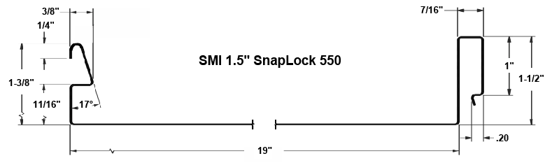 "1.5"" Snap-Loc Panel Profile"