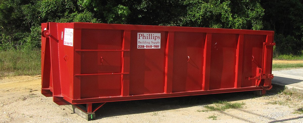 Phillips Building Supply Dumpster