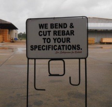 Rebar Cutting & Bending Sign