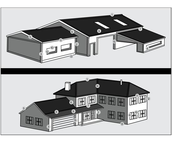 House Trim Diagram